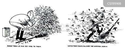 leaf pile cartoon