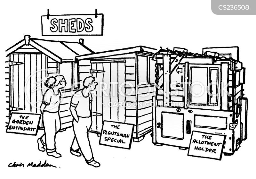 garden sheds cartoon