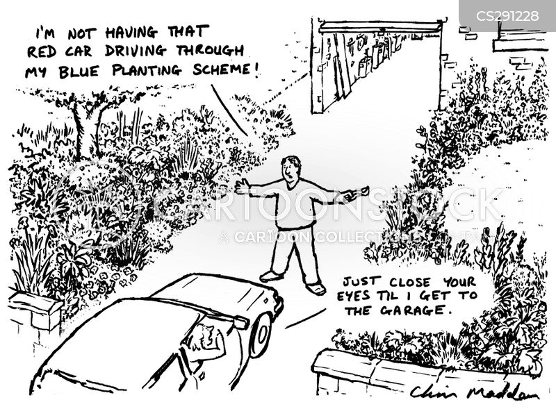 car drivers cartoon
