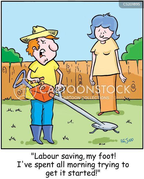 mow cartoon
