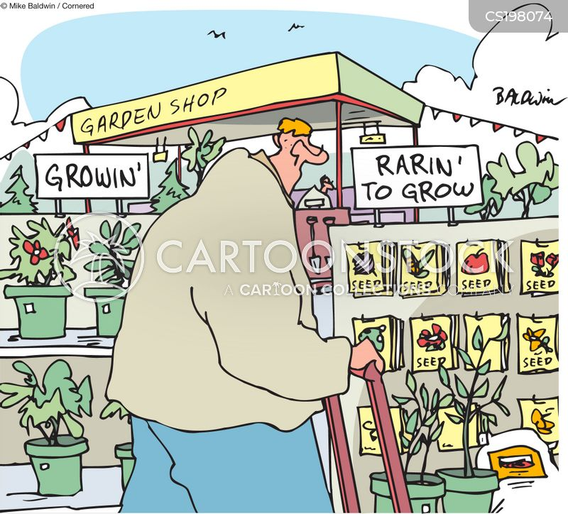 garden shops cartoon