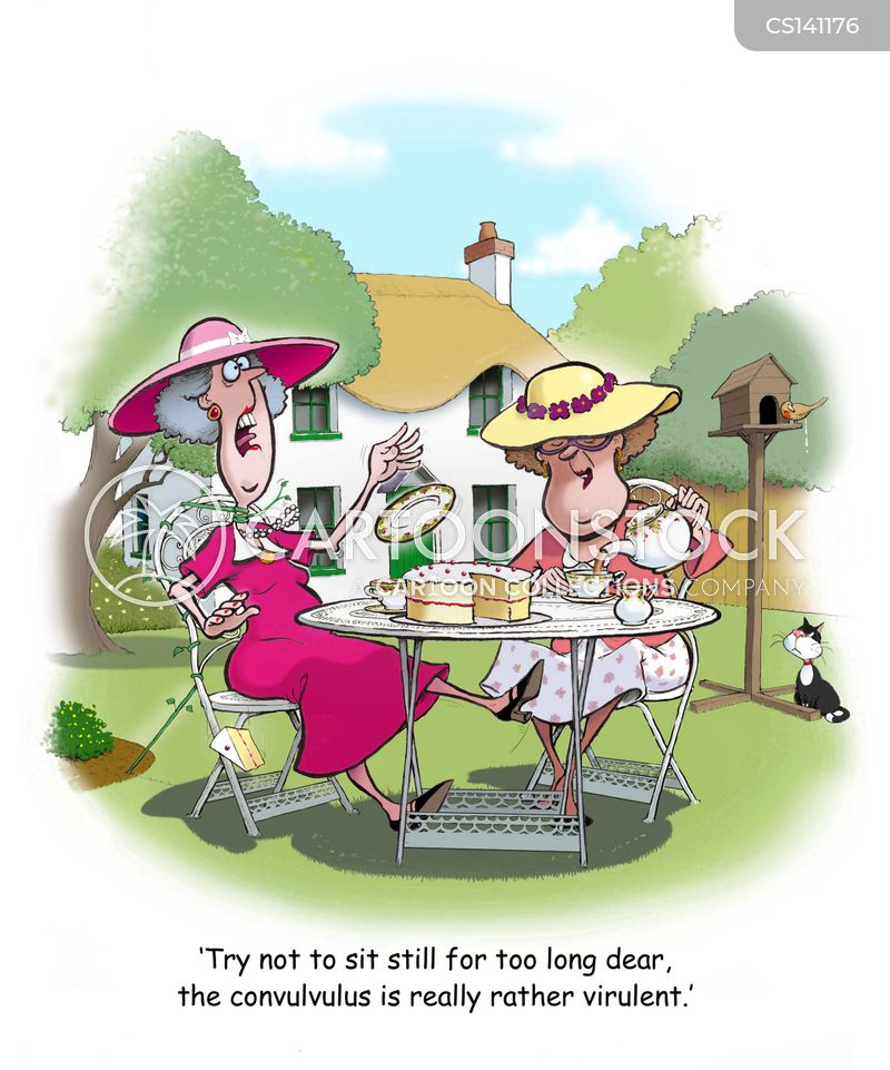 garden parties cartoon