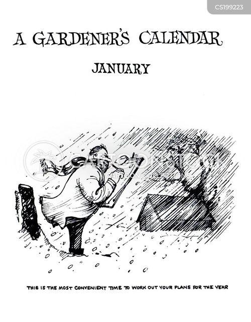 gardening tips cartoon
