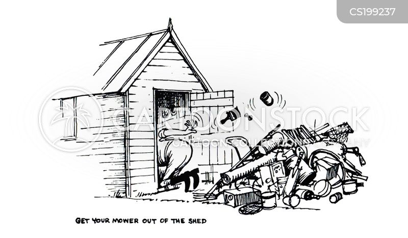sheds cartoon