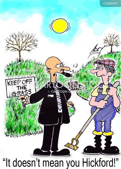 grass cutting cartoon