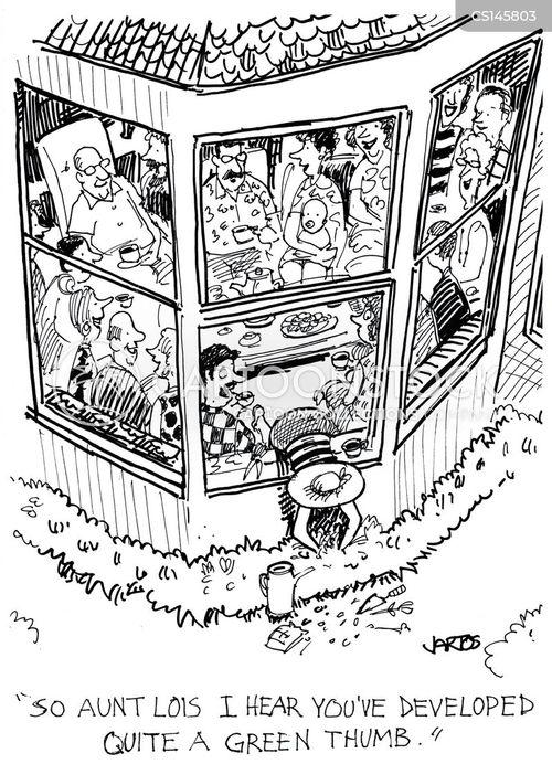 family gatherings cartoon