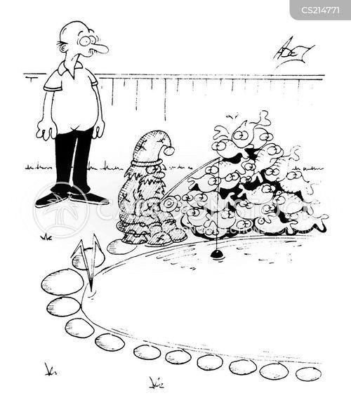 course fishing cartoon