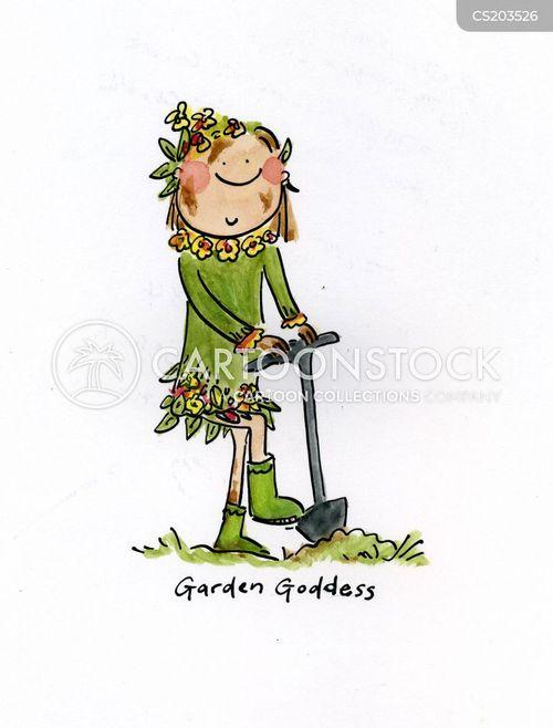 goddesses cartoon