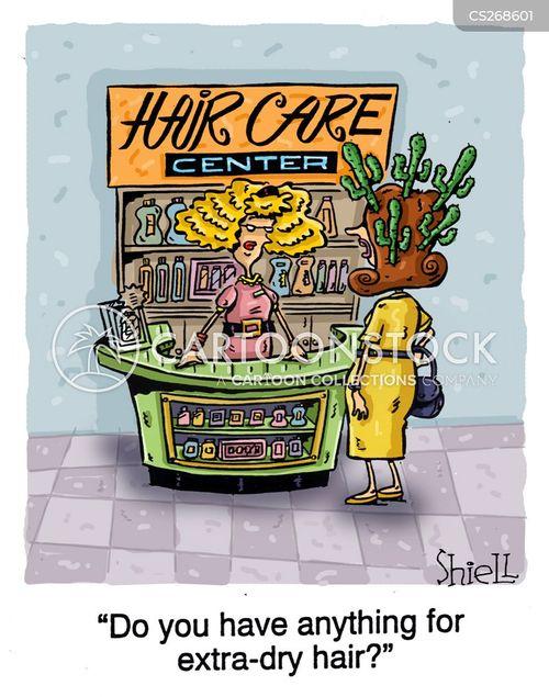 hair wash cartoon