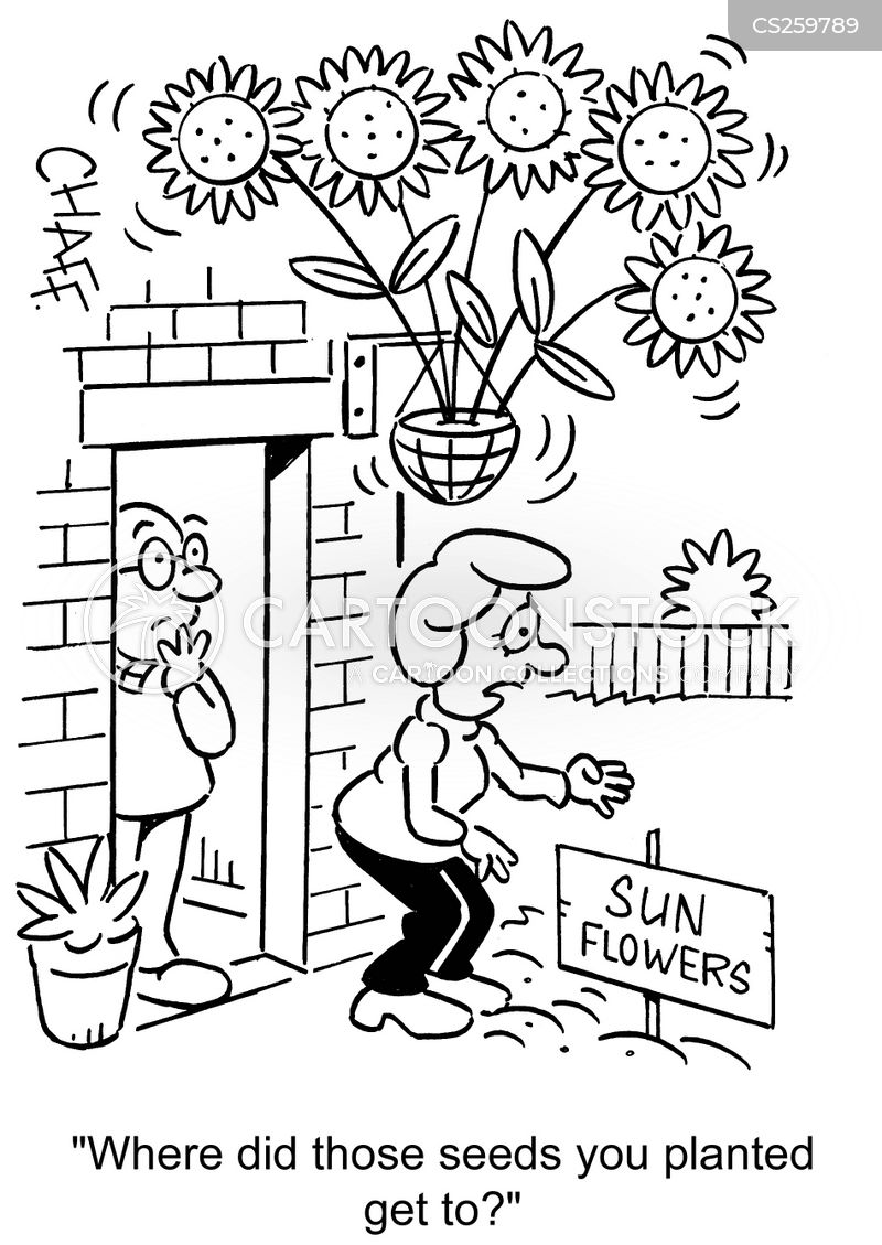 hanging garden cartoon