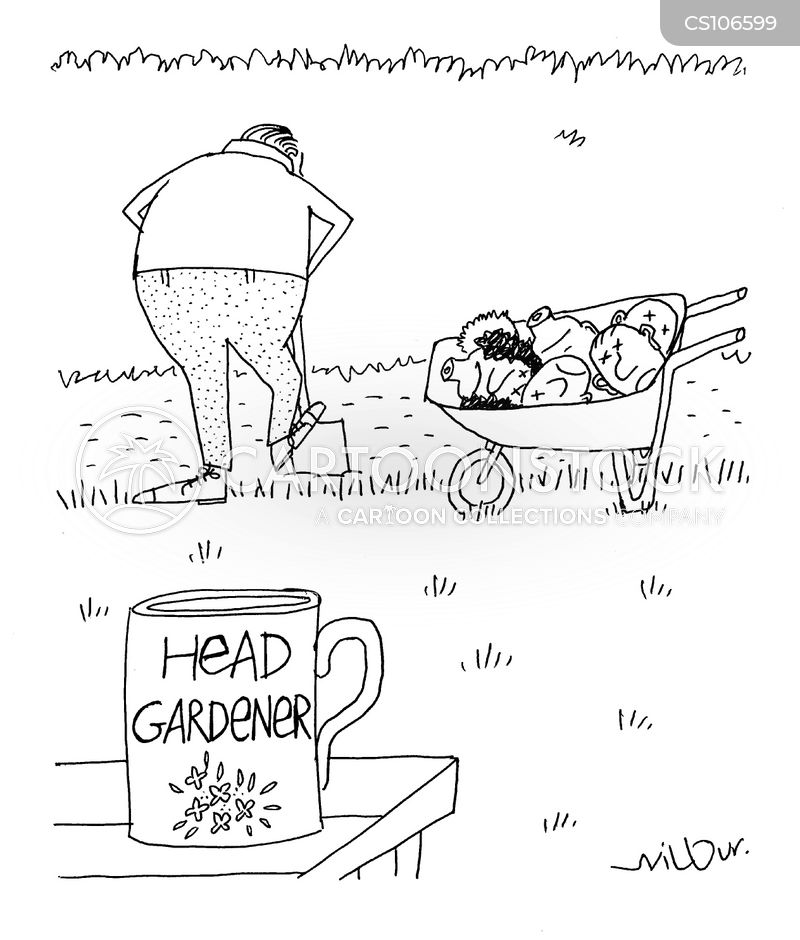 head gardeners cartoon