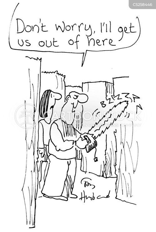 hedge trimmer cartoon