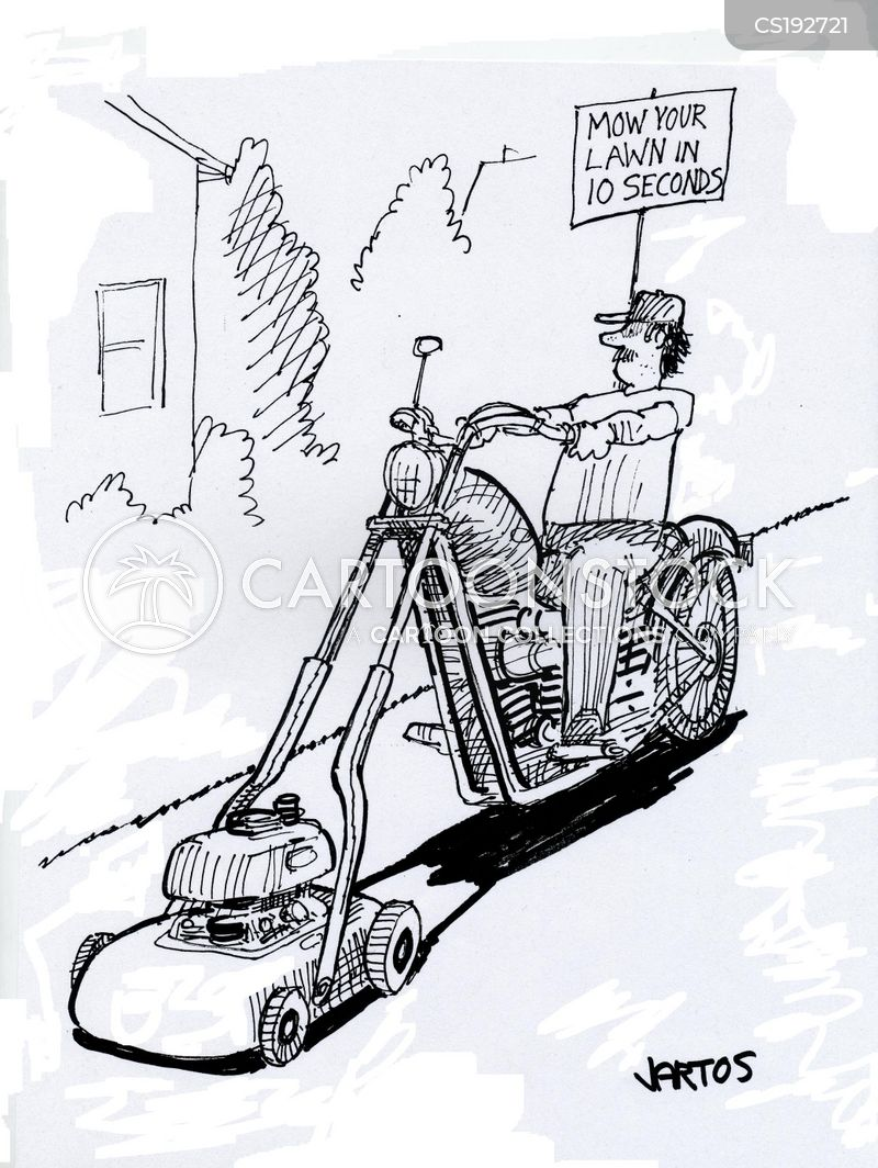 Mowing Cartoons And Comics Funny Pictures From Cartoonstock
