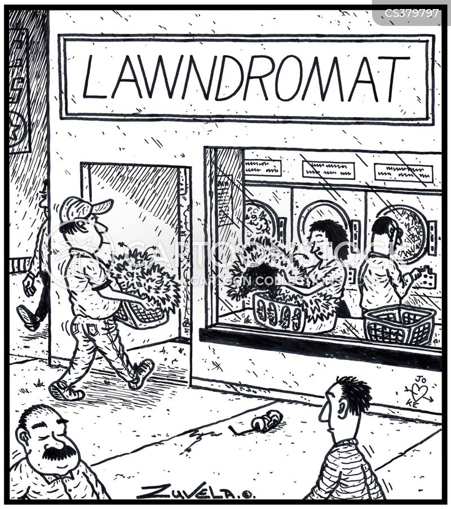clothes washing cartoon