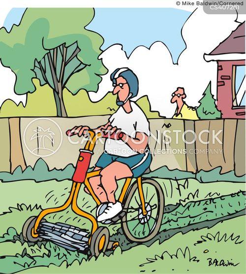 lawn-mowers cartoon
