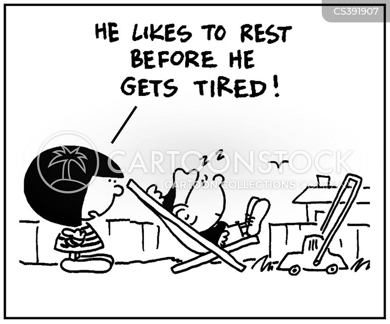 rested cartoon