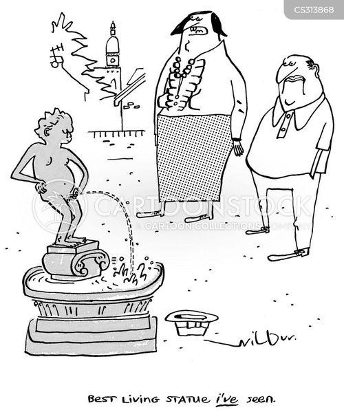 living statues cartoon