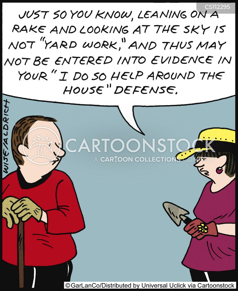 mowing the lawn cartoon