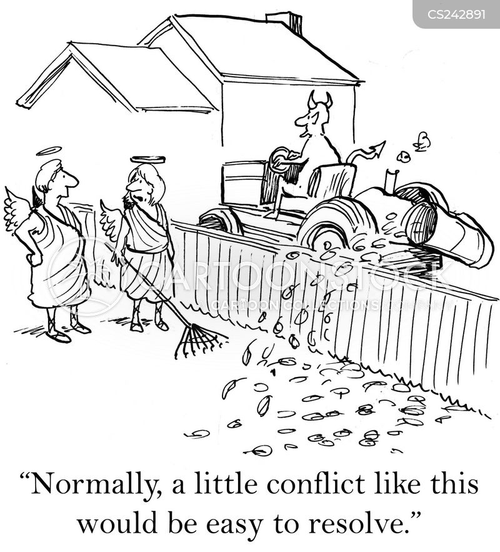 conflicting cartoon