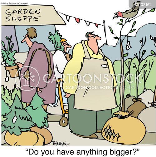 garden centres cartoon