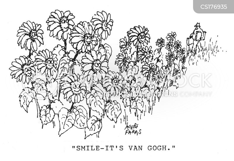vincent van gogh cartoon