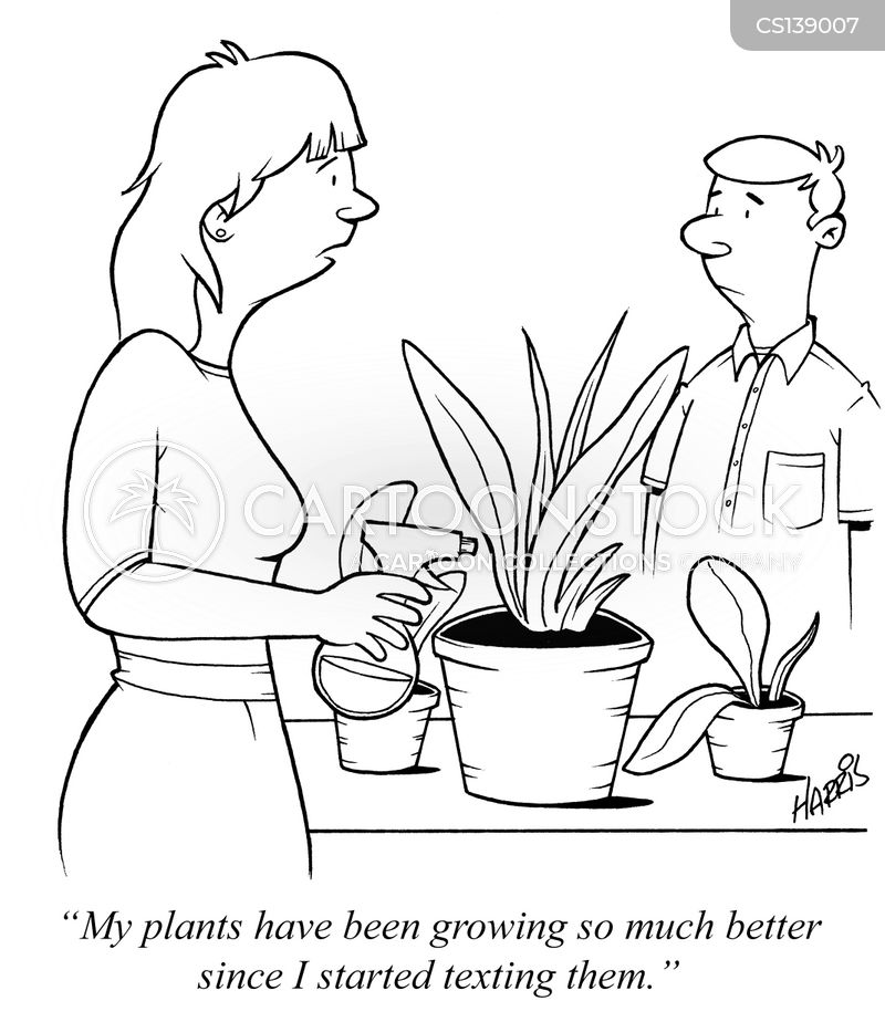 talk to your plants cartoon