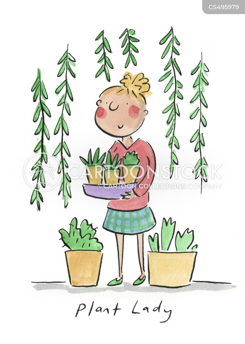 plant lady cartoon