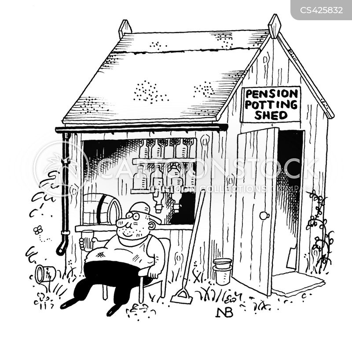 potting shed cartoon