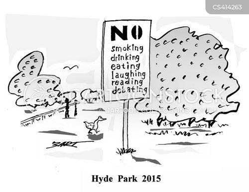 hyde park cartoon