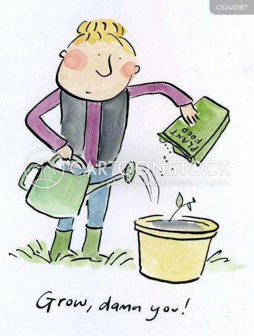 pots cartoon
