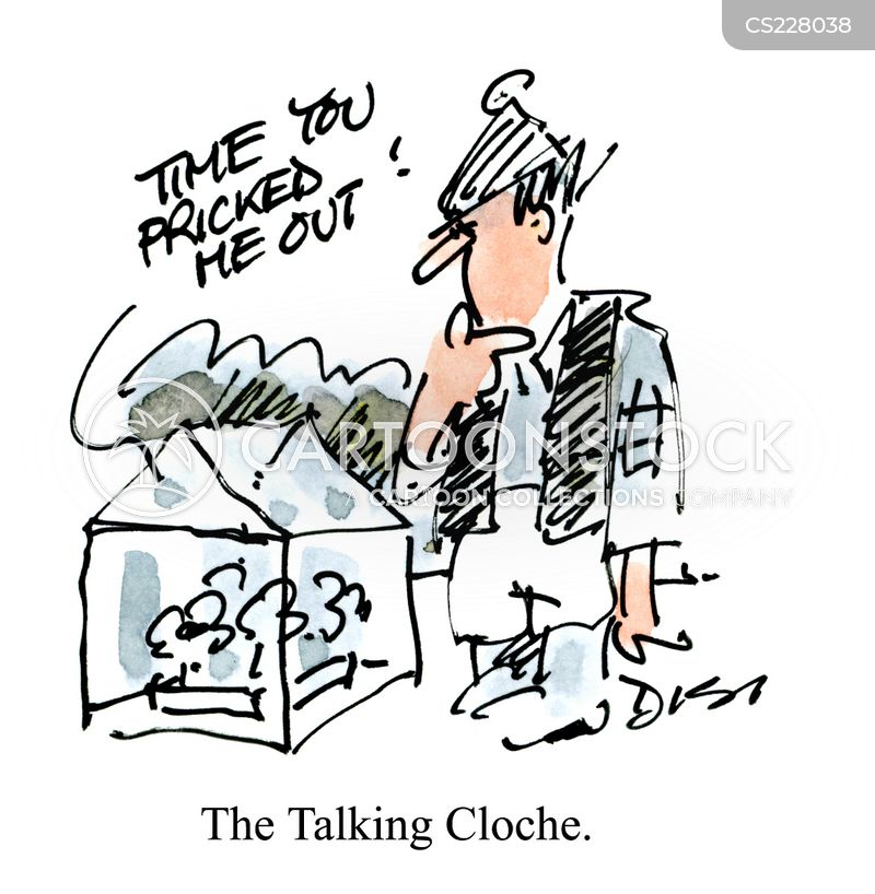 talking clock cartoon