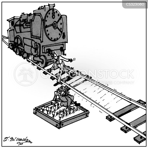 railroad track cartoon