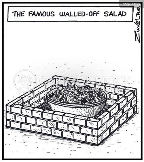 walled garden cartoon