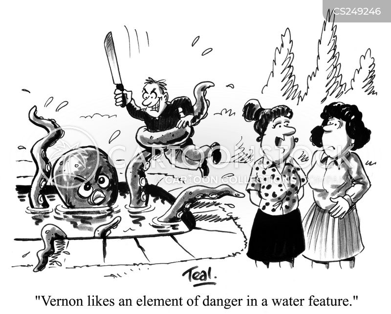 water feature cartoon
