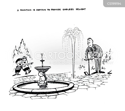 water fountains cartoon