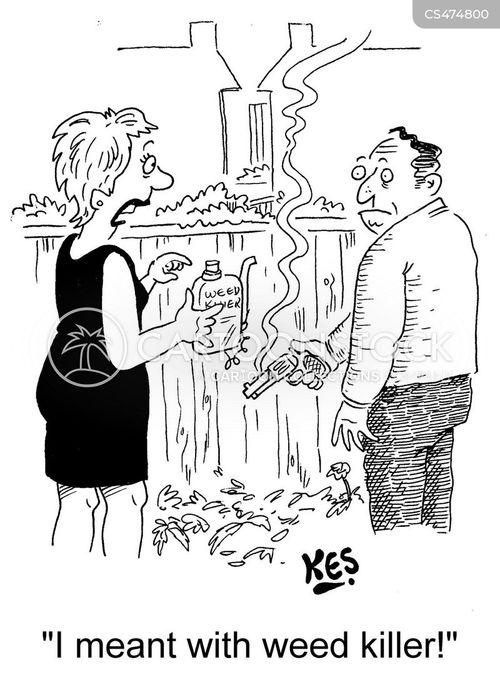 weed killers cartoon