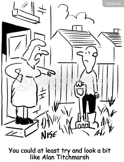 celebrity gardener cartoon