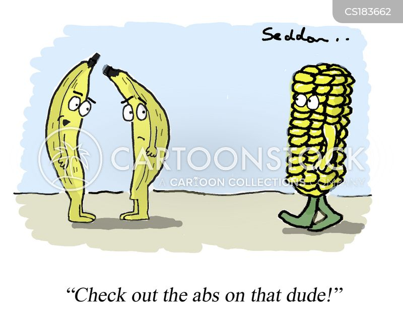 sweetcorn cartoon