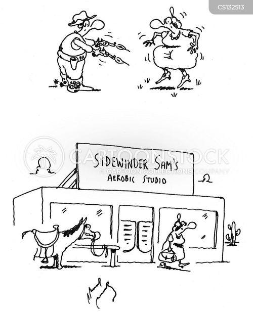 aerobic cartoon