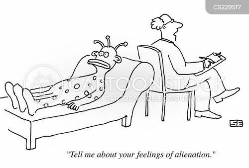 feeling alienated cartoon