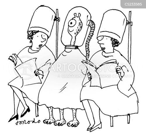 hairdressing salon cartoon