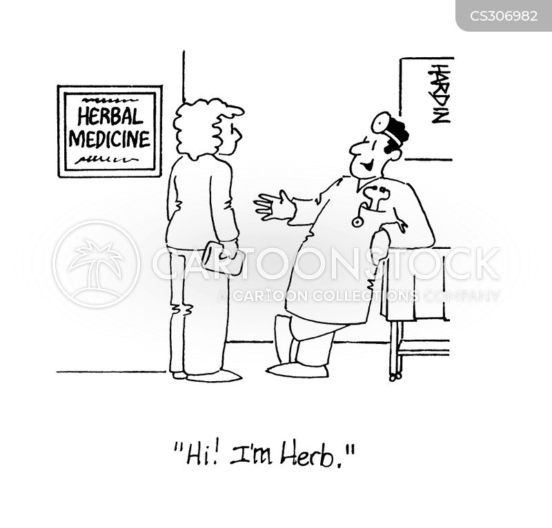 herbal medicines cartoon