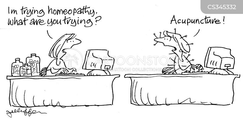 complementary therapy cartoon