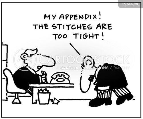 appendectomy cartoon