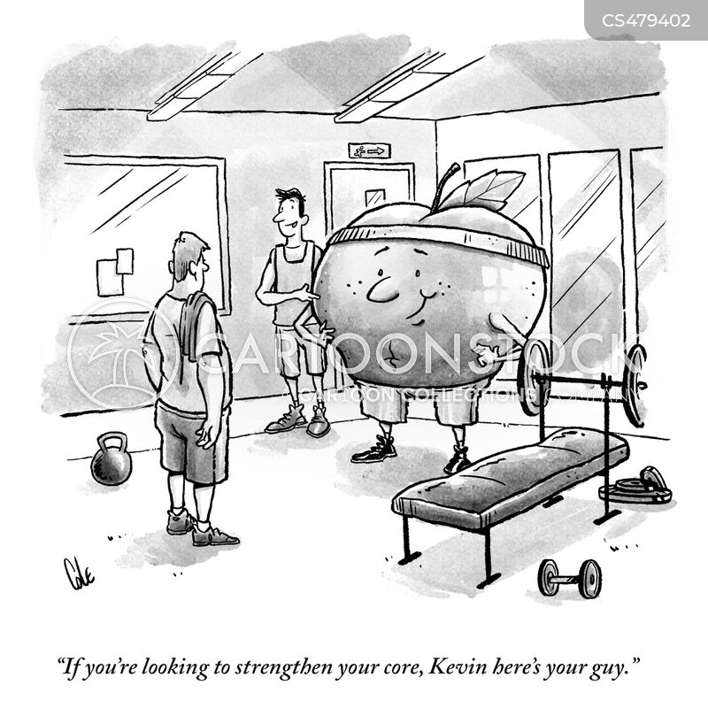 pilates exercises cartoon