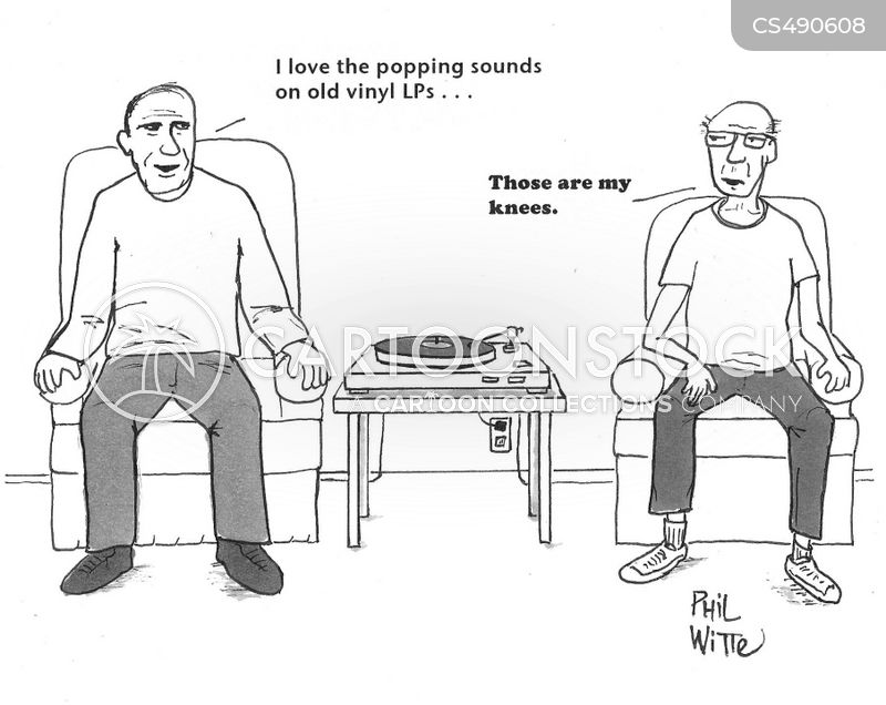 vinyl players cartoon