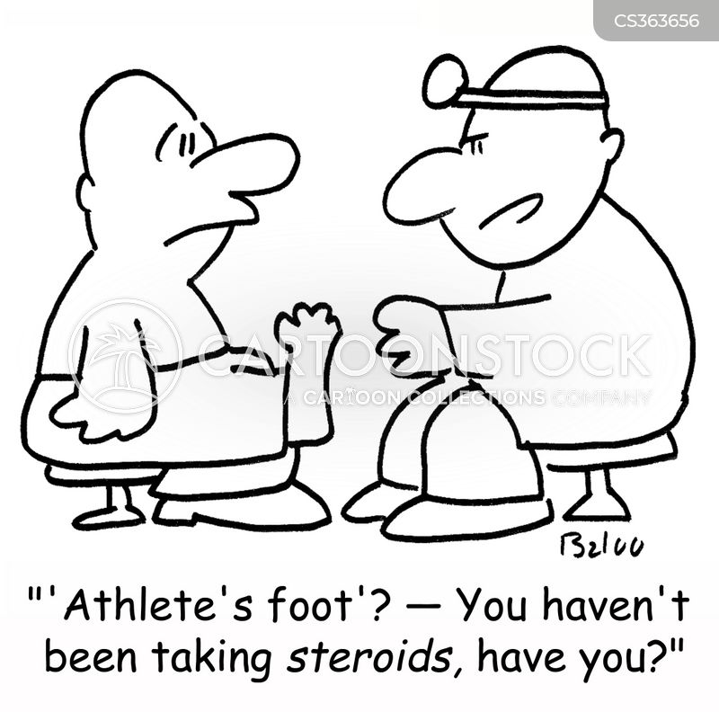 steroid abuser cartoon