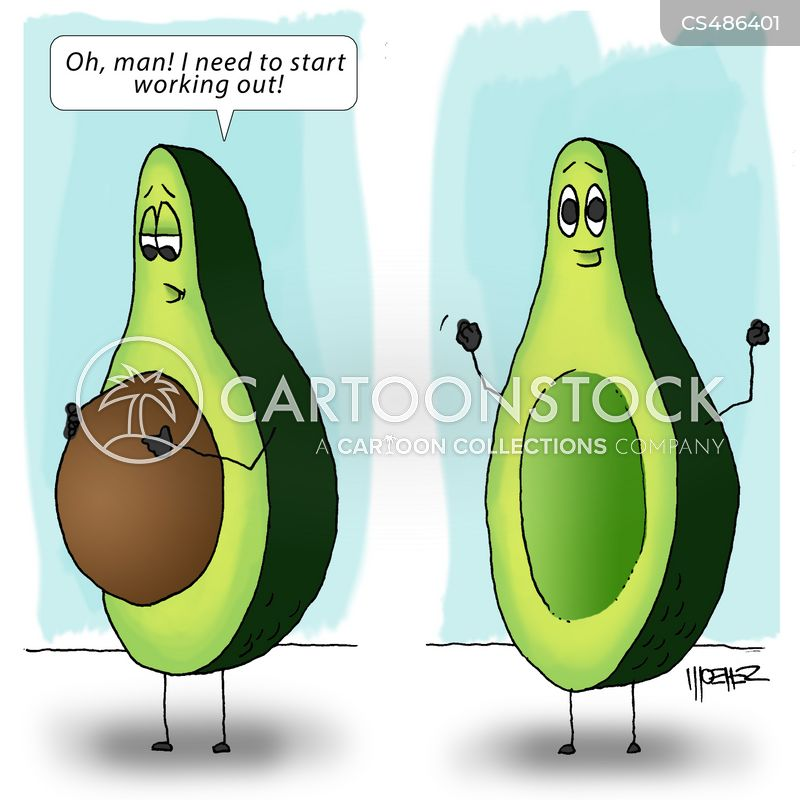 avocados cartoon