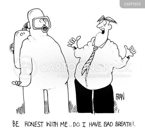 halitosis cartoon
