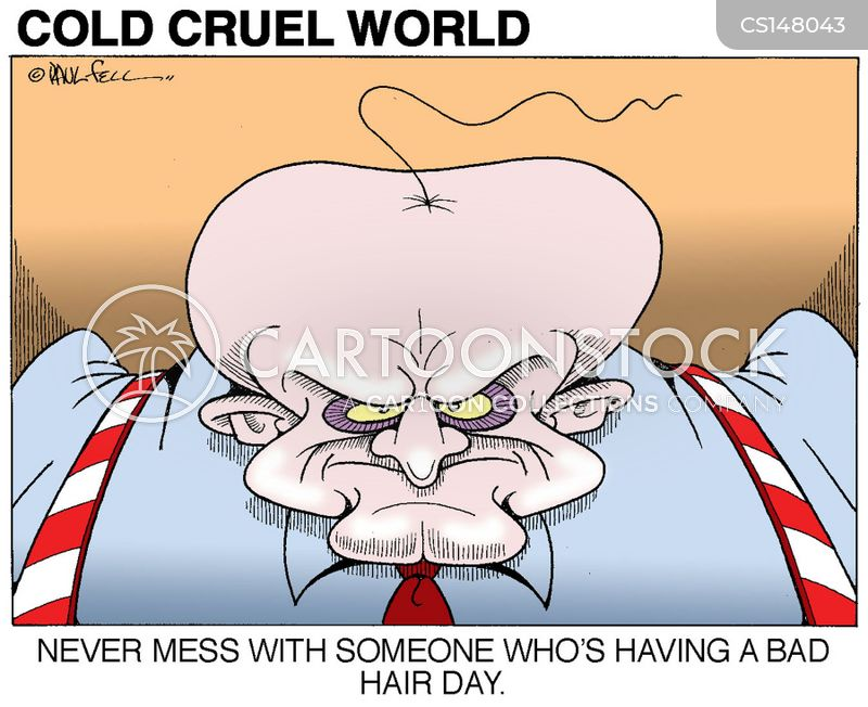 bald heads cartoon